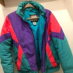 Women's 80's Vintage Ski Puffer Jacket